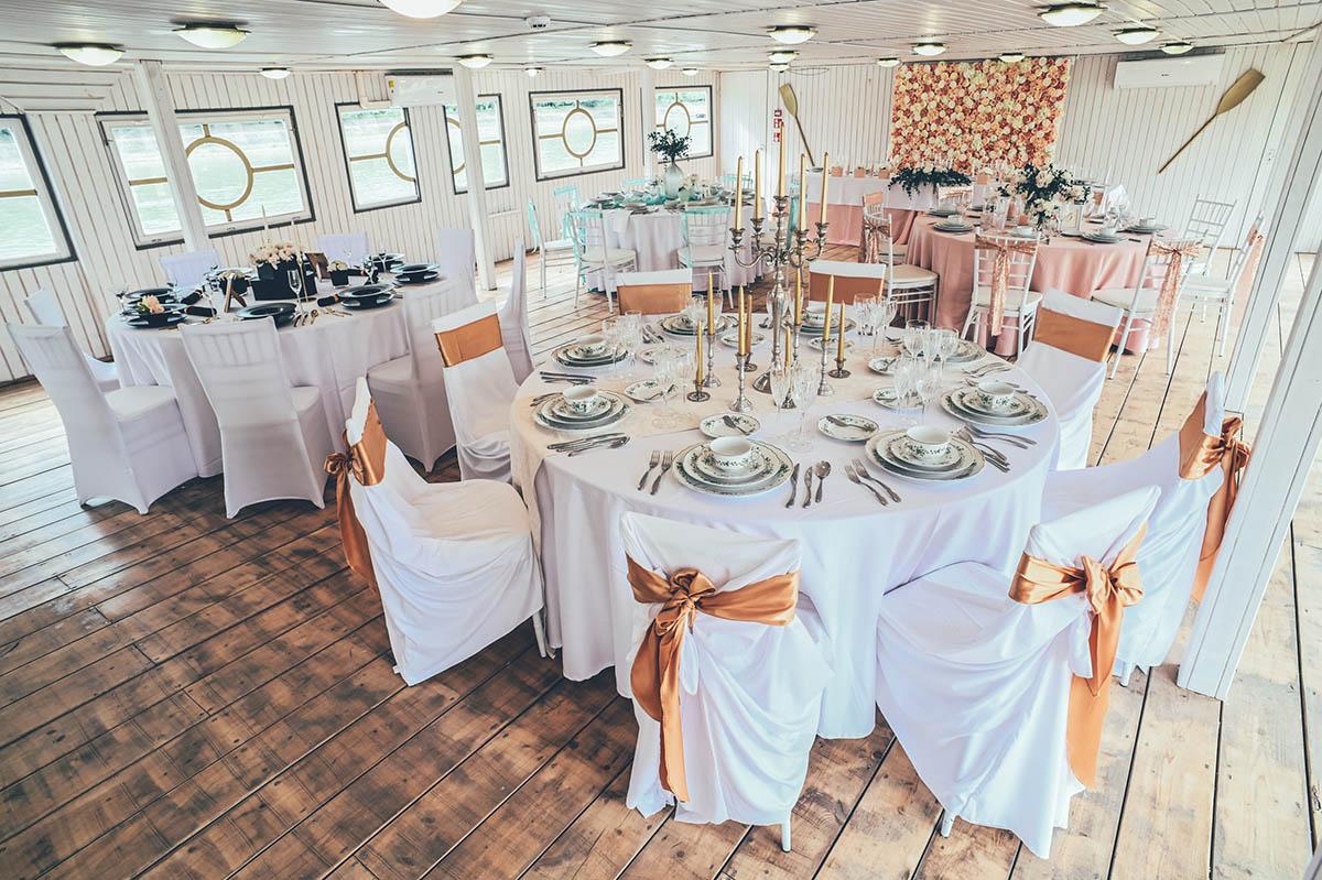 vintage design hajós esküvő
